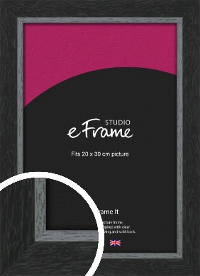 Chamfered Black Picture Frame, 20x30cm (8x12