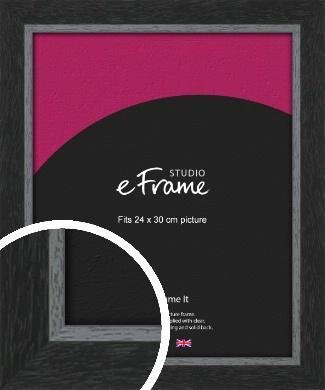 Chamfered Black Picture Frame, 24x30cm (VRMP-890-24x30cm)