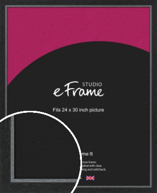 Chamfered Black Picture Frame, 24x30