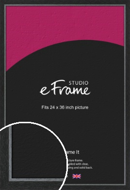 Chamfered Black Picture Frame, 24x36