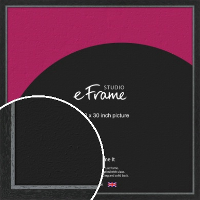 Chamfered Black Picture Frame, 30x30