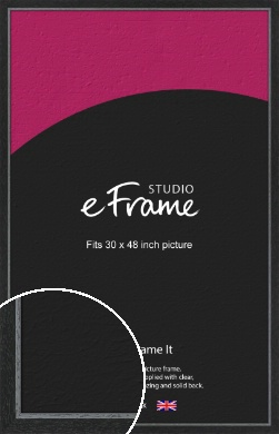 Chamfered Black Picture Frame, 30x48