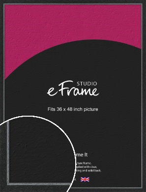 Chamfered Black Picture Frame, 36x48
