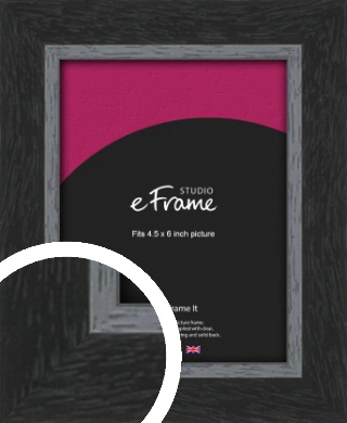 Chamfered Black Picture Frame, 4.5x6