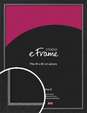 Chamfered Black Picture Frame, 45x60cm (VRMP-890-45x60cm)
