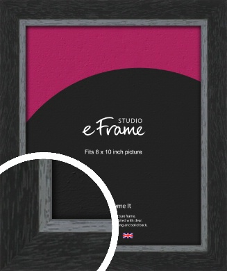 Chamfered Black Picture Frame, 8x10