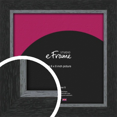 Chamfered Black Picture Frame, 8x8