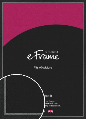 Chamfered Black Picture Frame, A0 (841x1189mm) (VRMP-890-A0)