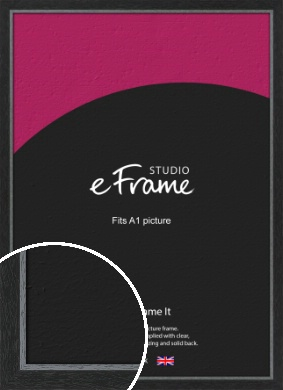 Chamfered Black Picture Frame, A1 (594x841mm) (VRMP-890-A1)