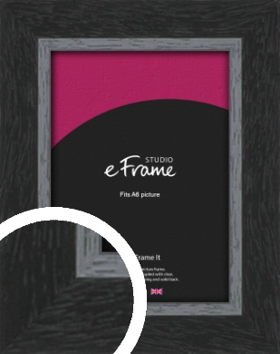 Chamfered Black Picture Frame, A6 (105x148mm) (VRMP-890-A6)