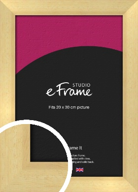 Neutral Natural Wood Picture Frame, 20x30cm (8x12