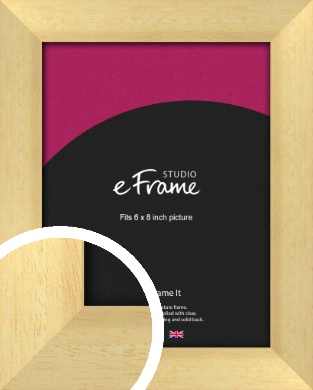 Neutral Natural Wood Picture Frame, 6x8