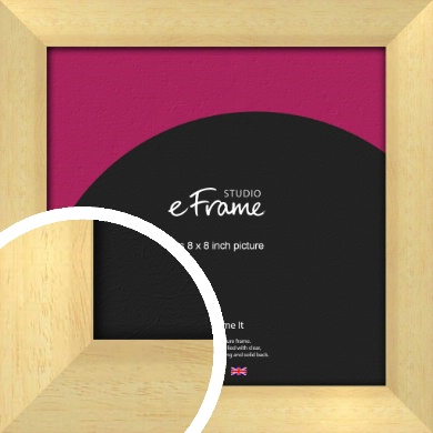 Neutral Natural Wood Picture Frame, 8x8