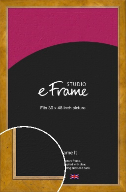 Wide Classic Brown Picture Frame, 30x48