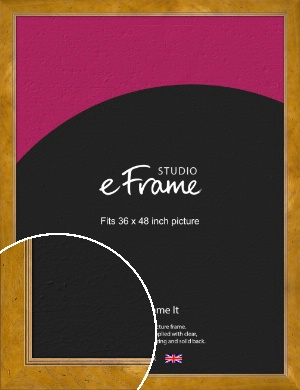 Wide Classic Brown Picture Frame, 36x48