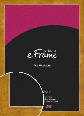 Wide Classic Brown Picture Frame, A0 (841x1189mm) (VRMP-893-A0)