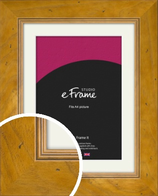 Wide Classic Brown Picture Frame & Mount, A4 (210x297mm) (VRMP-893-M-A4)