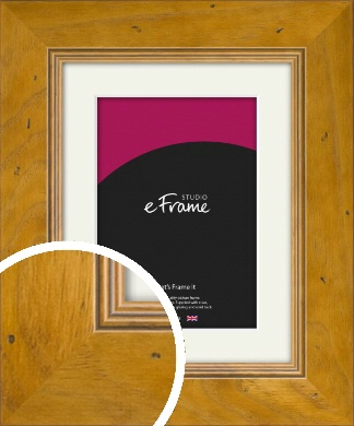 Wide Classic Brown Picture Frame & Mount (VRMP-893-M)