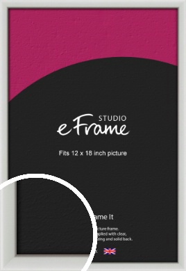 Narrow Basic Silver Picture Frame, 12x18