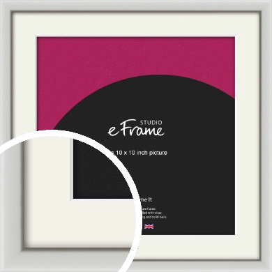 Narrow Basic Silver Picture Frame & Mount, 10x10