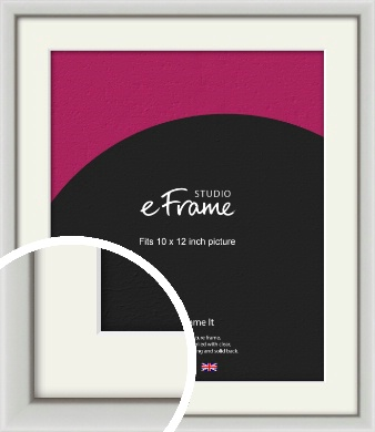 Narrow Basic Silver Picture Frame & Mount, 10x12