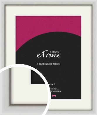 Narrow Basic Silver Picture Frame & Mount, 20x25cm (8x10