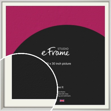 Narrow Basic Silver Picture Frame & Mount, 30x30
