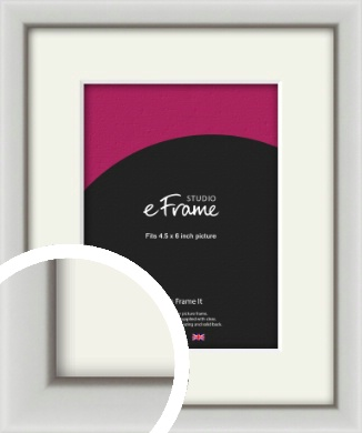 Narrow Basic Silver Picture Frame & Mount, 4.5x6