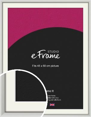 Narrow Basic Silver Picture Frame & Mount, 45x60cm (VRMP-557-M-45x60cm)