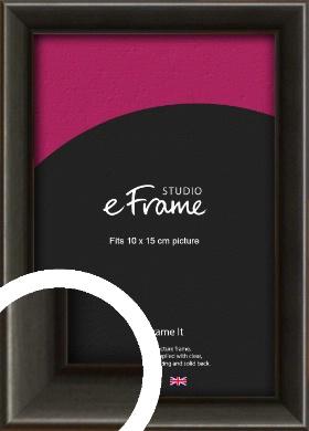 Slim Modern Painted Black Picture Frame, 10x15cm (4x6