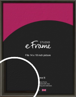 Slim Modern Painted Black Picture Frame, 14x18