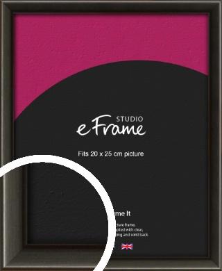 Slim Modern Painted Black Picture Frame, 20x25cm (8x10