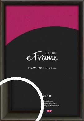 Slim Modern Painted Black Picture Frame, 20x30cm (8x12