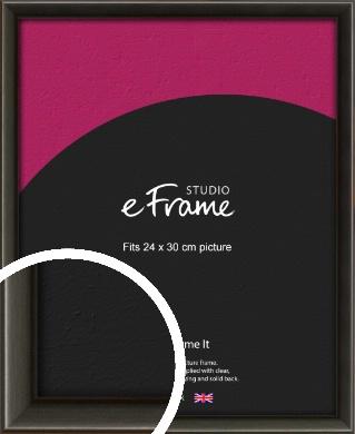 Slim Modern Painted Black Picture Frame, 24x30cm (VRMP-595-24x30cm)