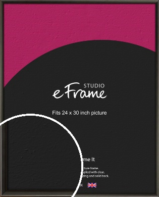 Slim Modern Painted Black Picture Frame, 24x30