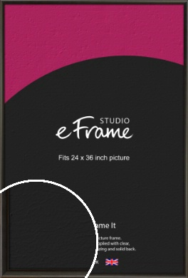 Slim Modern Painted Black Picture Frame, 24x36