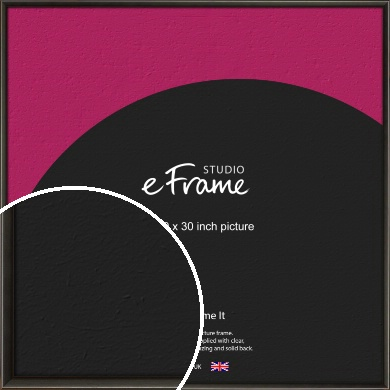 Slim Modern Painted Black Picture Frame, 30x30