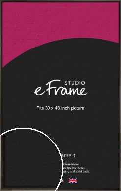 Slim Modern Painted Black Picture Frame, 30x48