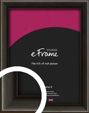 Slim Modern Painted Black Picture Frame, 4.5x6