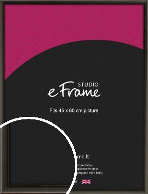 Slim Modern Painted Black Picture Frame, 45x60cm (VRMP-595-45x60cm)