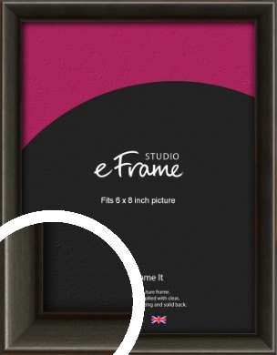 Slim Modern Painted Black Picture Frame, 6x8