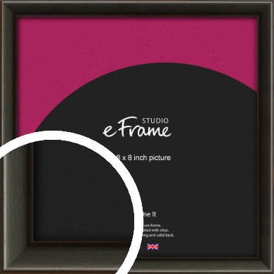 Slim Modern Painted Black Picture Frame, 8x8