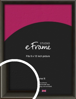 Slim Modern Painted Black Picture Frame, 9x12