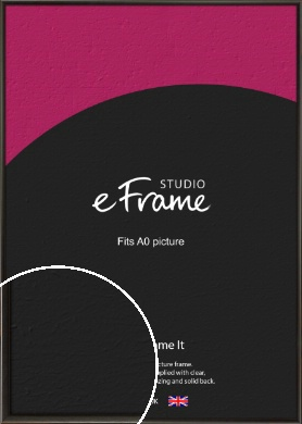 Slim Modern Painted Black Picture Frame, A0 (841x1189mm) (VRMP-595-A0)