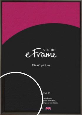 Slim Modern Painted Black Picture Frame, A1 (594x841mm) (VRMP-595-A1)