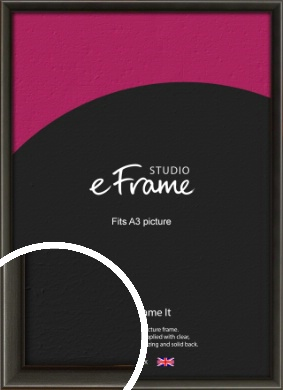 Slim Modern Painted Black Picture Frame, A3 (297x420mm) (VRMP-595-A3)