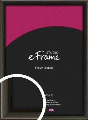 Slim Modern Painted Black Picture Frame, A4 (210x297mm) (VRMP-595-A4)