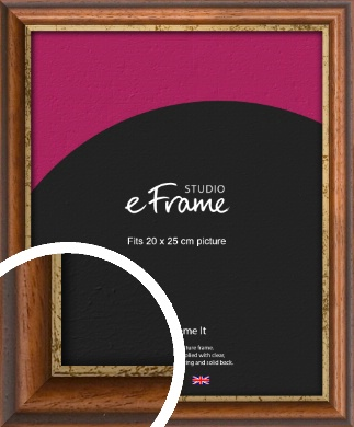 Distressed Gold Edge Brown Picture Frame, 20x25cm (8x10