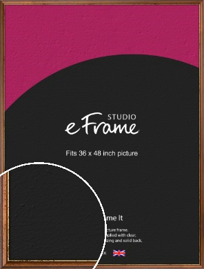 Distressed Gold Edge Brown Picture Frame, 36x48