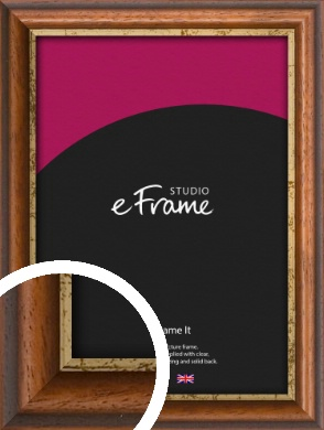 Distressed Gold Edge Brown Picture Frame (VRMP-291)